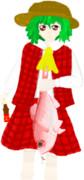 Nsen02東方チャンネル二次創作部描け麻雀。『幽香様が焼肉のたれの桜えびで金目鯛を釣った』