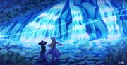 聖なる清水の滝