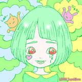 【フリーアイコン】グリーンのボブの女の子