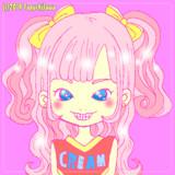 【フリーアイコン】ピンクなチアガールの女の子
