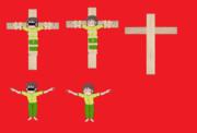 磔にされたSZK&十字架RB