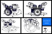 【MMDモデル配布】電子ドラムセット&椅子&ドラムスティック