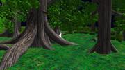 森を徘徊する少女