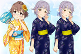 【立ち絵】幸子&日菜子浴衣セット【配布】