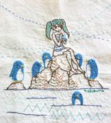 スイテイペンギン(刺繍)