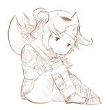 ララ戦士(線画)