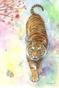 虎を水彩で可愛く描いてみた