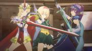 魔法使い三人が魔法騎士にチェンジ