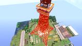 マイクラで東京タワー(上から)