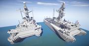 【minecraft】ひびき型音響測定艦【クラフティア独立国家連邦】