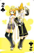 【MMD】MMDトランプ クラブ2 歌を継ぐ双子リンレン