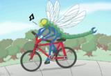 トンボが自転車に乗って - うごイラ