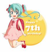 Happy birthday ! Miku !