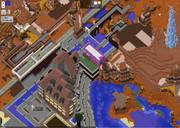 メサバイオームに建設中の「チキンタウン」