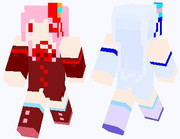 琴葉茜さん、葵さんのマイクラスキン