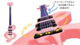 可動弦ト音記号風ギター(配布)