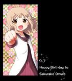 ゆるゆり:Happy Birthday to 櫻子2014