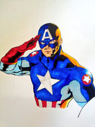 キャプテンアメリカ描いてみた