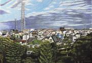 鉄塔のある風景 新座市新座