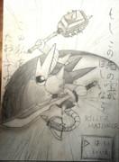 キラーマジンガを鉛筆で描いてみた
