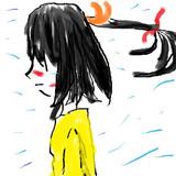 女の子をマウスだけで描くとこうなる。