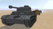 IV号戦車調整中