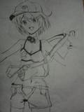 夏色凛ちゃんを筆で描いてみた