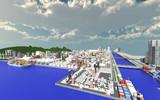 【Minecraft】 小さな工業地帯と町並み