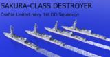 連邦海軍第一駆逐隊【さくら型駆逐艦】