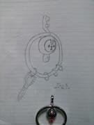 ポケセンでクレッフィキーホルダー買った時に描いた