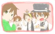 平和組でケーキを食べよう