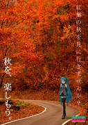 【秋のポスター選手権】紅葉に囲まれた道
