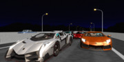 深夜のレース