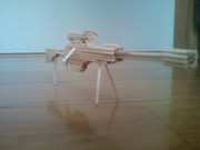 SAO2のヘカートⅡ爪楊枝で作ってみた