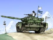 落書きロシア戦車