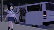 【MMD】夜道の一人歩きは…