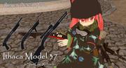 【MMDモデル、アクセサリ配布】イサカM37、ショットガンローダー