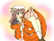 カニにお姫様だっこされる日菜子ちゃん