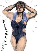 何か競泳水着を描きたいとかって描いてあったから…