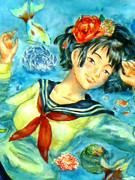 金魚と少女