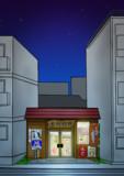 『釣らせ屋893』木村釣具店【背景:夜空】
