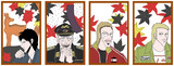 福本花札│十月│紅葉