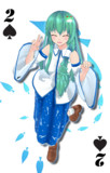 【MMD】MMDトランプ スペード2 その笑顔が奇跡の巫女早苗