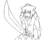 【GIFアニメ】椛が斬るだけ