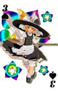 【MMD】MMDトランプ スペード3 普通の魔法使い魔理沙