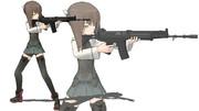 銃の扱いがうまそうな艦娘さん
