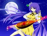 月下の琵琶法師