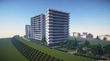 【Minecraft】川沿い高層住宅地区のマンション