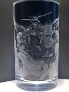 【痛グラス】ゴッド&シャイニングガンダム彫った【Gガンダム】