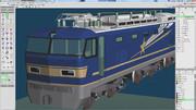 EF510 500番台 作成過程 その4(前面形状と塗装)